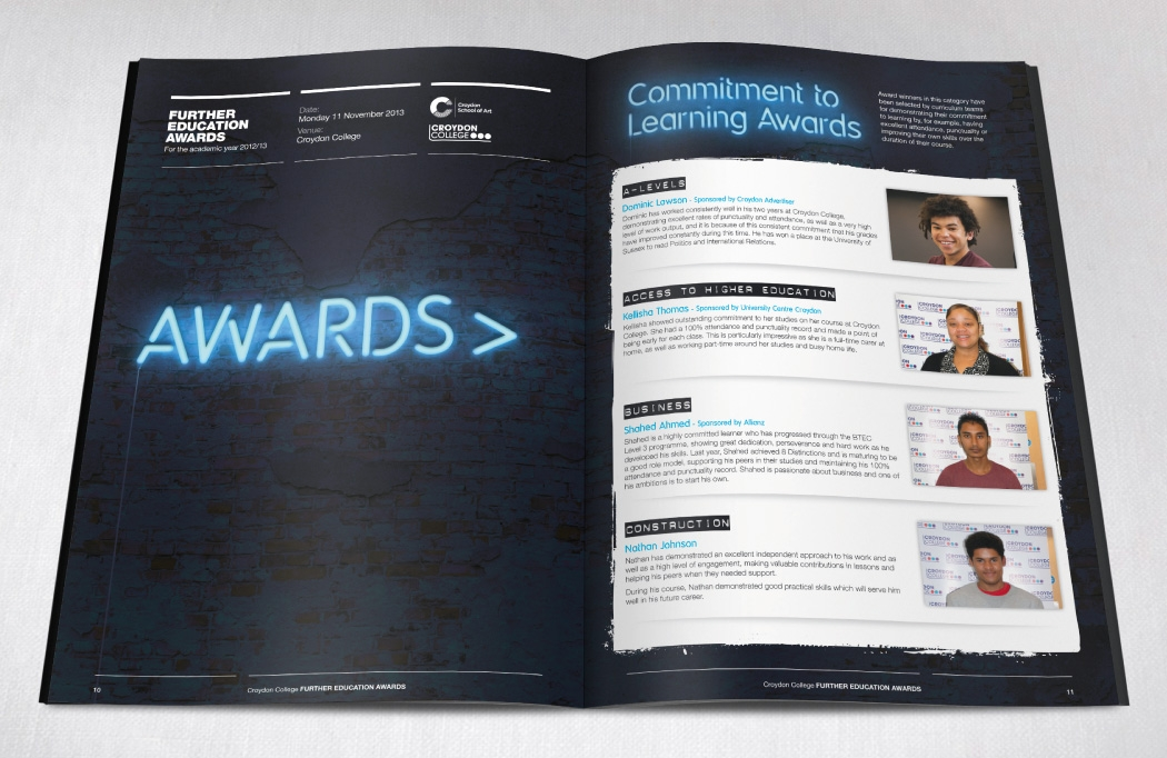 FE Awards Night programme