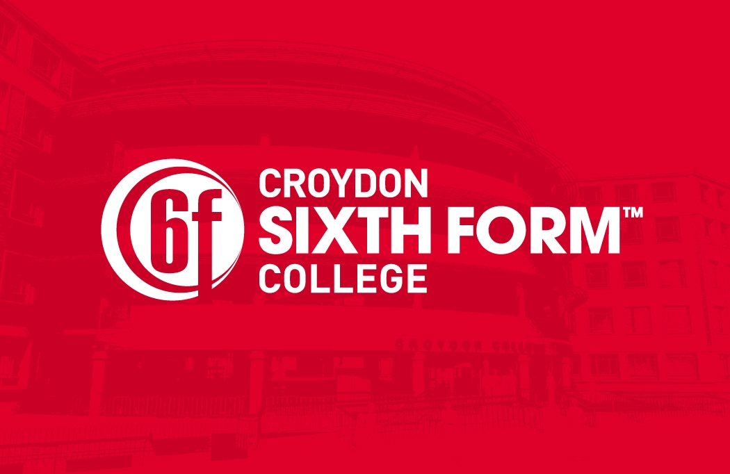 Logo used in a college prospectus designed for Croydon College by BLU:72 Creative