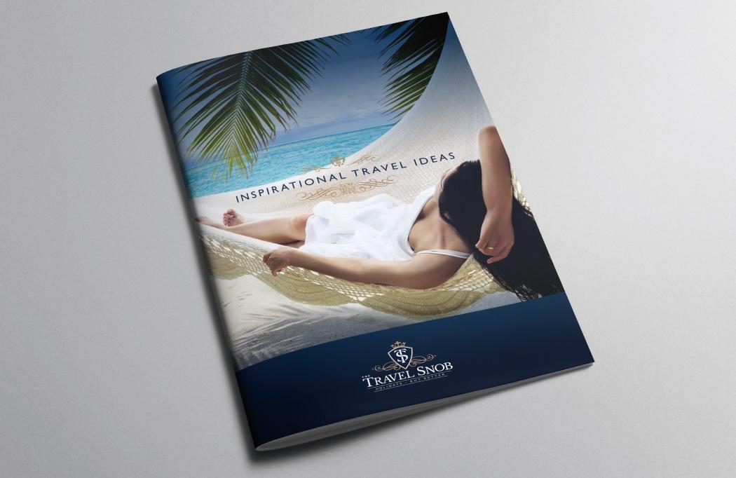 Travel Agent Branding - Brochure designed for The Travel Snob