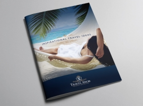 Travel Agent Branding - Brochure designed for The Travel Snob