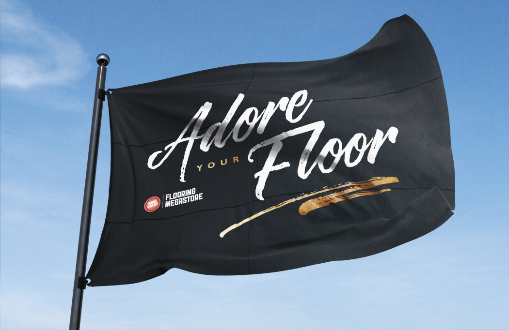 Flag design for Flooring Megastore