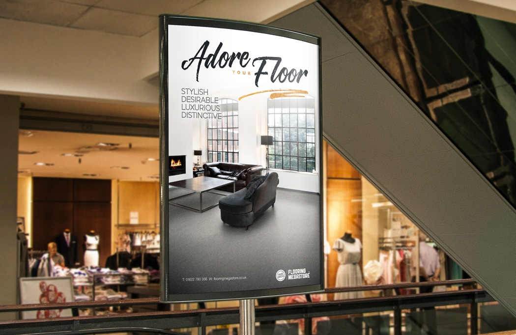 Outdoor advertising for Flooring Megastore