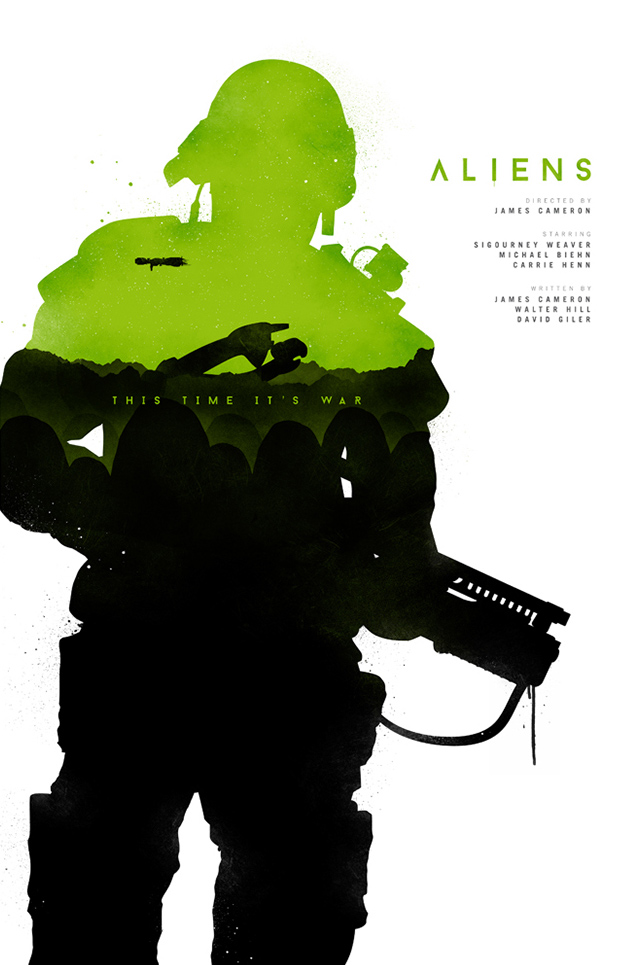 Movie Poster Design - Joseph Harrold - Aliens