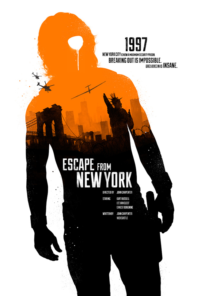 Movie Poster Design - Joseph Harrold - Escape from New York