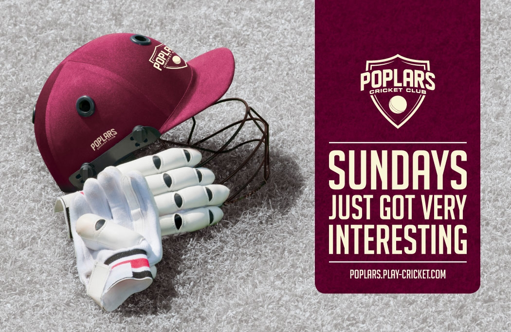 Branded image for Poplars CC - Cricket Club Logo Design