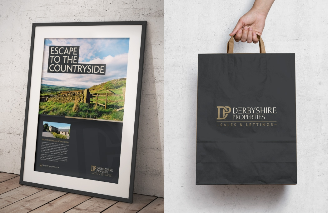 Poster and bag design for Derbyshire Properties by BLU:72 Creative