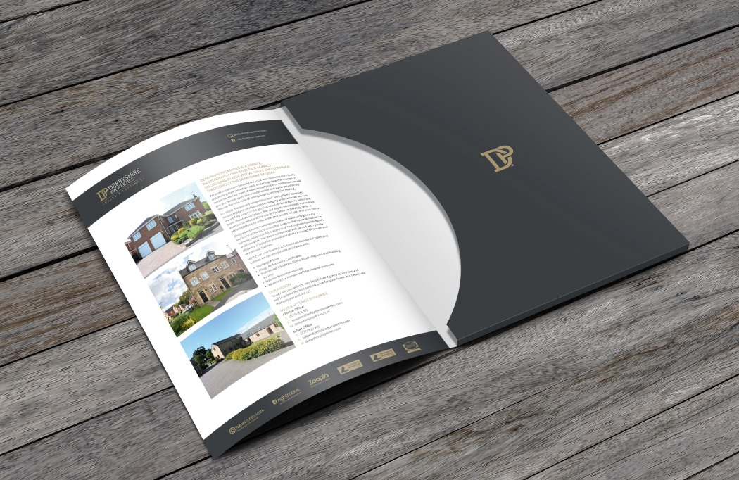 Part of a logo design & branding project for Derbyshire Properties by BLU:72 Creative